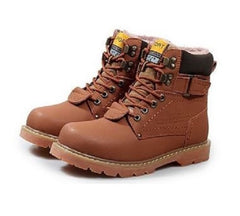 Leather Combat Snow Boots $74.99 - God Degree Clothing And Accessories