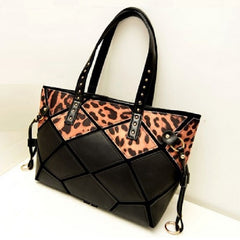 Leopard Print Leather Tote Bags $39.01 - God Degree Clothing And Accessories™® - GD's™®