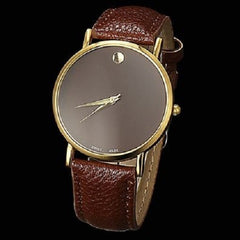 Geneva Minimalism Leather Band Wrist Watch $20.17 - God Degree Clothing And Accessories™® - GD's™®