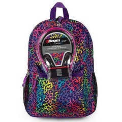 Rainbow Cheetah Print Backpack & Headphones Set $34.99 - Kwikibuy.com™®