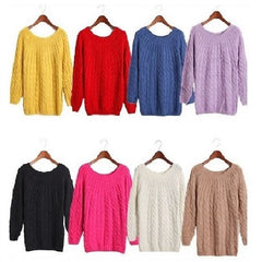 Warm Knitted Pullover Sweaters  $15.11 {One Size Fit All} - God Degree Clothing And Accessories - GD's