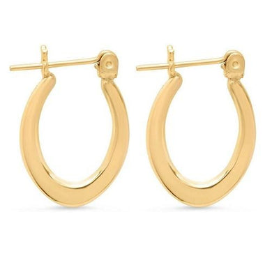 Solid Gold Oval Hoop Earrings  - Kwikibuy Amazon Global