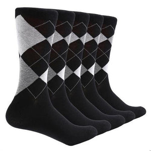 10-Pair-Argyle-Socks-Black  - Kwikibuy Amazon Global