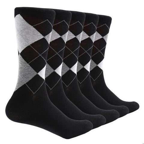 10 Pair Argyle Socks (Black) | Kwikibuy Amazon | United States