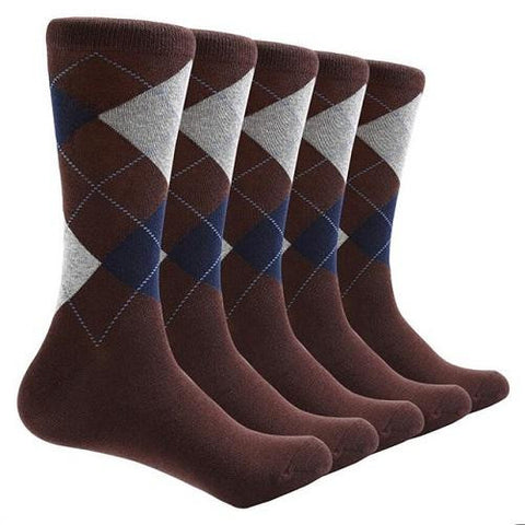 10 Pair Argyle Socks (Brown) | Kwikibuy Amazon | United States