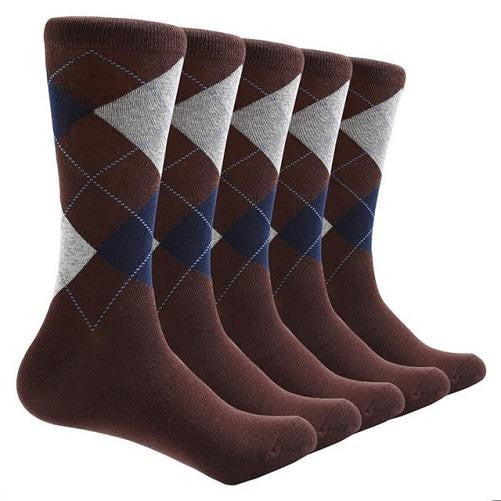 Shop-Now-10-Pair-Argyle-Socks-Brown-Kwikibuy.com-All
