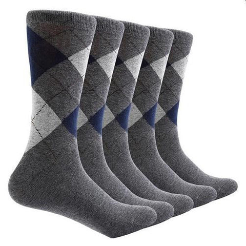 10 Pair Argyle Socks (Grey) | Kwikibuy Amazon | United States