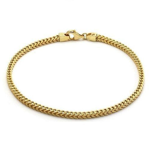 Shop-Now-14K-Solid-Yellow-Gold-Women's-Bracelet-Free-Gift-Pouch-Kwikibuy.com