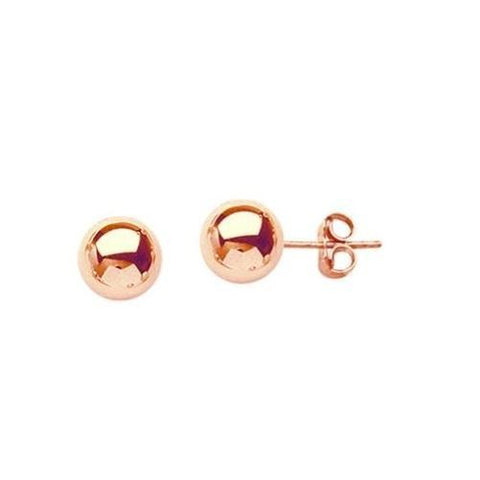 14K Ball Stud Earrings (14K Rose Gold) - Kwikibuy.com Official Site©