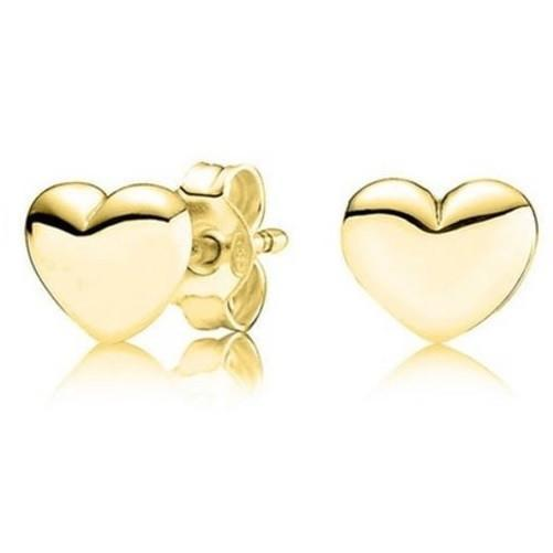 💖 Heart-Stud-Earrings-14K-Solid-Gold  - Kwikibuy Amazon Global