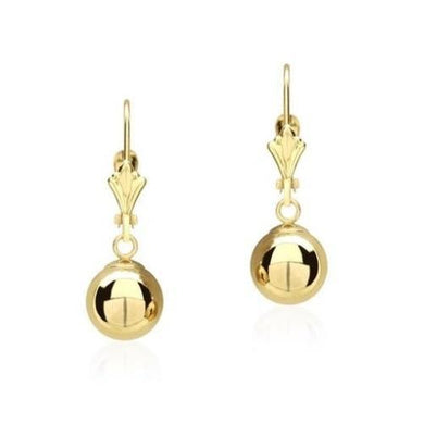 14K Solid Yellow Gold Ball Dangle Drop Earrings  - Kwikibuy Amazon Global