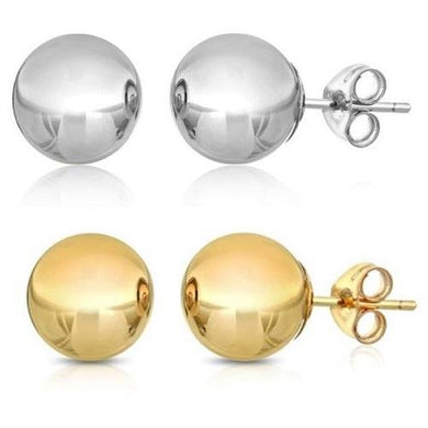 🍀 14k Solid Yellow or White Gold Stud Earrings  - Kwikibuy Amazon Global