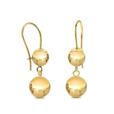 14K Yellow Gold Clipped Drop Dangle Balls  - Kwikibuy Amazon Global