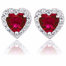 Load image into Gallery viewer, 🍀 2.32 Ct Ruby Red Hearts (925 Sterling Silver Earrings)  - Kwikibuy Amazon Global