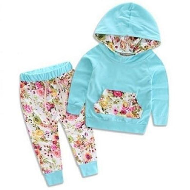 Floral Hoodie and Pants Outfit (4 Sizes - 2 Colors)  - Kwikibuy Amazon Global