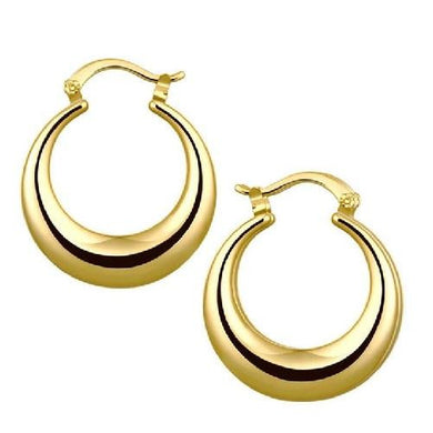 🍀 20K Solid Yellow or Rose Gold Hoop Earrings  - Kwikibuy Amazon Global