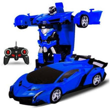 Load image into Gallery viewer, 2-In-1-Radio-Control-Transformation-Sports-Car-Robot-With-Remote-Control-Police-Blue  - Kwikibuy Amazon Global