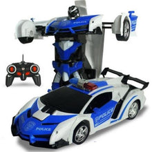 Load image into Gallery viewer, 2-In-1-Radio-Control-Transformation-Sports-Car-Robot-Remote-Police-Blue  - Kwikibuy Amazon Global