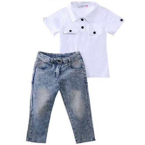 Children's Top & Jeans Outfits $19.99 White - Kwikibuy.com™®