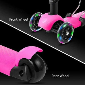 3-Wheel Grip Handheld Kick Scooter with LED Light Up Wheels (Pink)  - Kwikibuy Amazon Global