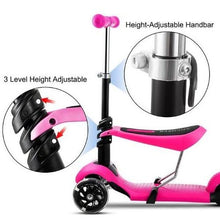 Load image into Gallery viewer, 3-Wheel Grip Handheld Kick Scooter with LED Light Up Wheels (Adjustable)  - Kwikibuy Amazon Global