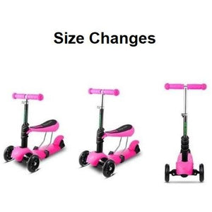 3-Wheel Grip Handheld Kick Scooter with LED Light Up Wheels (Age Size Adjustments)  - Kwikibuy Amazon Global