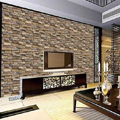 3D PVC Brick Stone Wall (17.7 x 39.3 inches / 45 cm x 100 cm)  - Kwikibuy Amazon Global