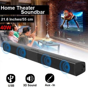 40 Watt Home Theater Super Bass Surround Sound Bar Speakers  - Kwikibuy Amazon Global