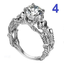 Load image into Gallery viewer, 🍀 925 Sterling Silver Skull Ring (5 Sizes - 10 Styles)  - Kwikibuy Amazon Global