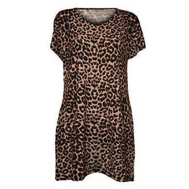 Leopard-Print-Short-Sleeve-Blouse/Dress  - Kwikibuy Amazon Global