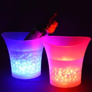 🎃 *7) Color LED Light Up Ice Bucket  - Kwikibuy Amazon Global Online S Hopping Mall *7) Changeable Colors: Red, Yellow, Blue, Green, Purple, Fuchsia, Blue