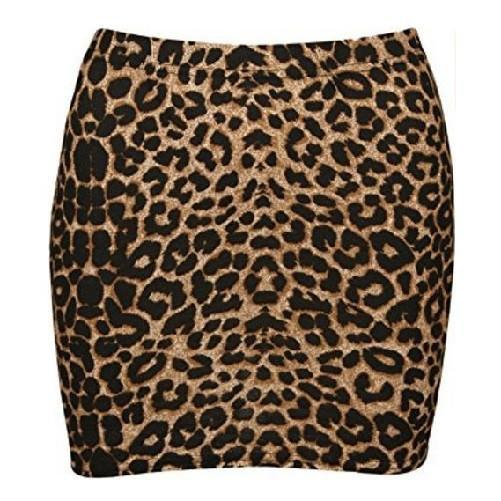 Leopard Print Elasticated Bodycon Short Skirt  - Kwikibuy Amazon Global