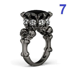 🍀 925 Sterling Silver Skull Ring (5 Sizes - 10 Styles)  - Kwikibuy Amazon Global