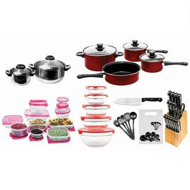 84-Piece Cookware Combo Set in Red  - Kwikibuy Amazon Global