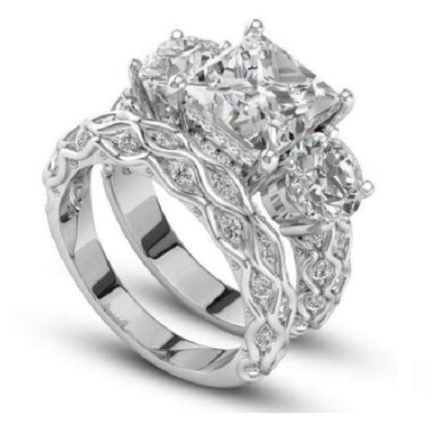 $59 White Sapphire Gemstone 925 Sterling Silver Ring Set Size 6-10 - Kwikibuy.com™® Official Site~Free Shipping