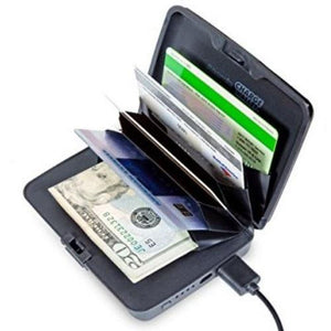 Phone Charging Wallet with RFID Chip Blocking (Blue)  - Kwikibuy Amazon Global