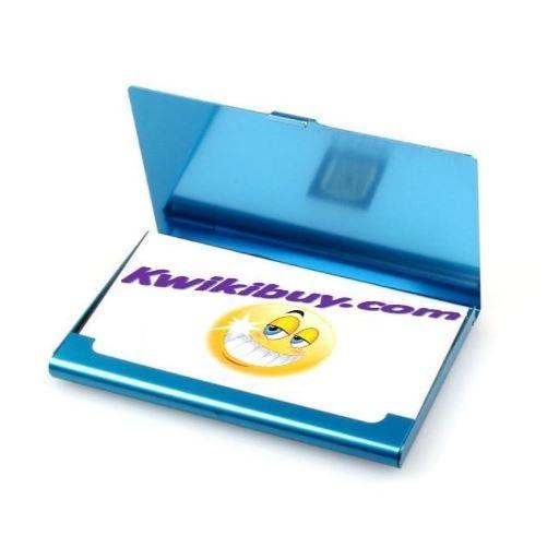 Aluminum-Business-Card-Holder-Blue  - Kwikibuy Amazon Global