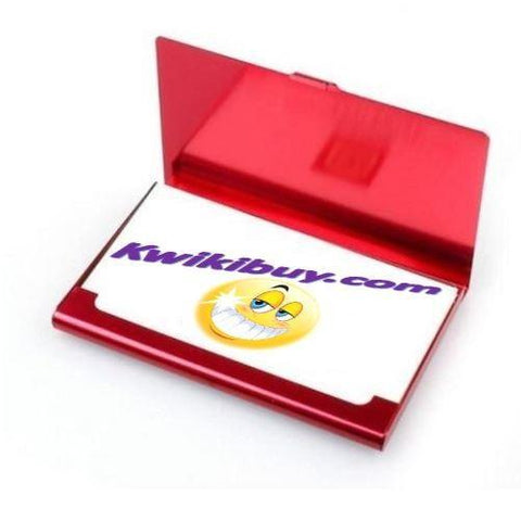 Aluminum-Business-Card-Holder-Red  - Kwikibuy Amazon Global