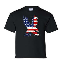 Load image into Gallery viewer, American Flag Eagle Child's Grey T-Shirt  - Kwikibuy Amazon Global
