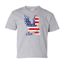 Load image into Gallery viewer, American Flag Eagle Child's White T-Shirt  - Kwikibuy Amazon Global