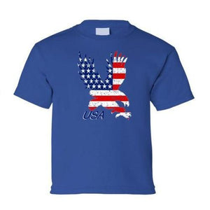 American Flag Eagle Child's Grey T-Shirt  - Kwikibuy Amazon Global