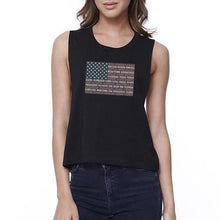 Load image into Gallery viewer, American Made (Black) - 4th Of July Sleeveless Crop Top  - Kwikibuy Amazon Global