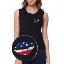 Load image into Gallery viewer, American Flag U.S. - 4th Of July Sleeveless Crop Top  - Kwikibuy Amazon Global
