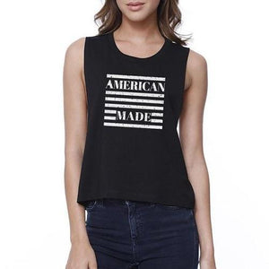 Liberty and Justice - 4th Of July Sleeveless Crop Top  - Kwikibuy Amazon Global