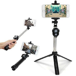 Bluetooth Selfie Stick and Tripod with Remote (Blue)  - Kwikibuy Amazon Global