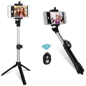 Bluetooth Selfie Stick and Tripod with Remote (Pink)  - Kwikibuy Amazon Global