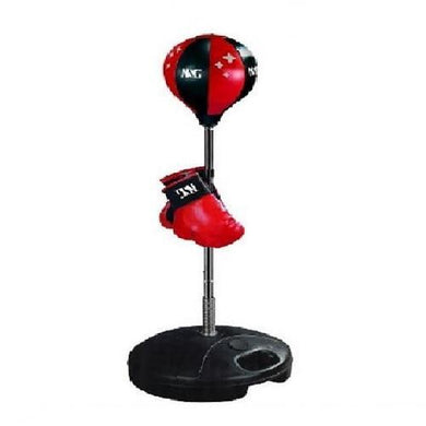 Punching Bag With Gloves  - Kwikibuy Amazon Global Freestanding reflex punching ball bounces back after being struck Help youngsters build hand-eye coordination