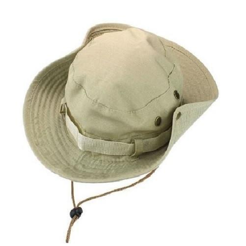 Military Boonie Bucket Drawstring Hat (Solid Beige) - Kwikibuy Amazon