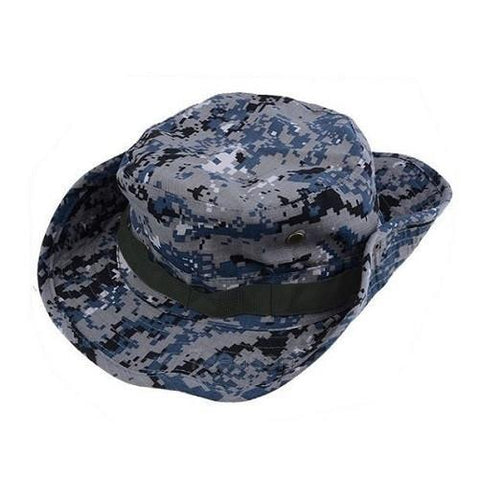 Military Boonie Bucket Drawstring Hat (Blue Camouflage) - Kwikibuy Amazon