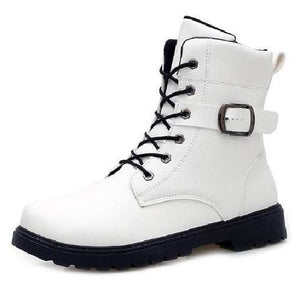 "Buckle Boots (2 Colors - 5 Sizes)  - Kwikibuy Amazon Global 2 Colors White or Black 5 Sizes: 7.5"", 8"", 8.5"", 9""-9.5"" or 10"" Boot Type: Fashion Boots"